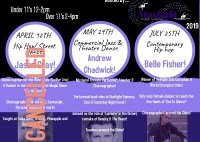 Dance Workshops 2019